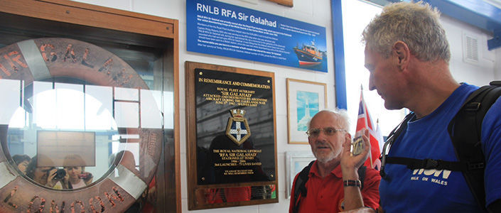 RFA Sir Galahad Memorial, Tenby Lifeboat Station
